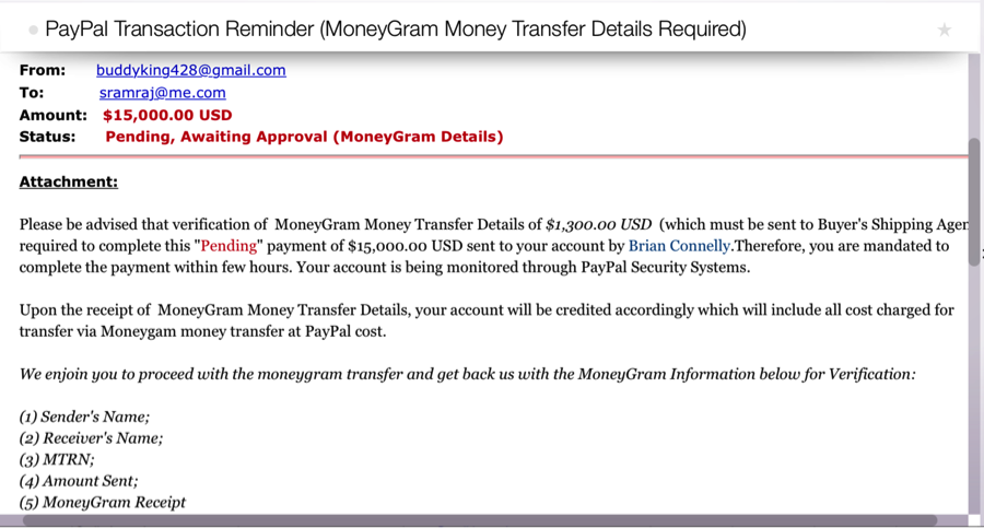 I check paypal.com and call PayPal to confirm my balance. No money was  transferred. (I knew that would be the guess but a girl can wish, right?)